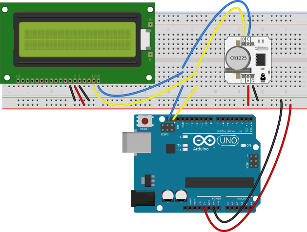 Digital Clock Example — Working with RTC Modules — XOD